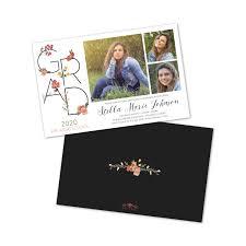 personalized graduation announcements floral 3 photo personalized graduation invitation bug