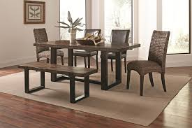 coaster westbrook dining casual rustic 6 piece mix and match