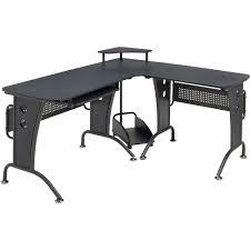 Corner Desk Computer Furniture Useful Under Desk Computer Shelves Graphite Black