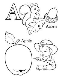 alphabet coloring pages printable alphabet coloring pages printable apple acorn alphabet coloring
