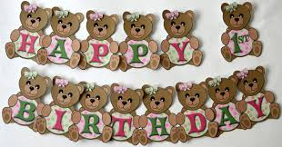 teddy decorations teddy picnic birthday party or baby shower