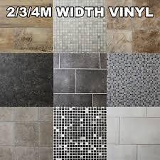 Quality Non Slip Vinyl Flooring Kitchen Bathroom Lino Wood Tiles - Cheap bathroom vinyl flooring 2