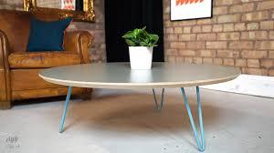 hairpin leg coffee table round flote round hairpin leg coffee table