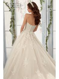 mori lee 5406 lace ball gown wedding dress ivory