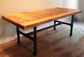 Pipe Coffee Table by Reclaimed Wood Pipe Leg Coffee Table Abodeacious