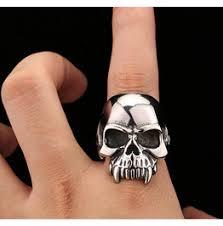 mens rings skull images Skull rings sterling steel rhinestones rings at rebelsmarket jpg