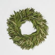 bay leaf wreath fresh bay olive wreath terrain