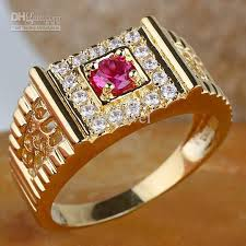 gold stone rings images 2018 men round ruby stone ring r125 gflm size 9 10 11 j8169 gift jpg