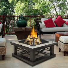 coffee table awesome gas fire table wood burning fire pit table