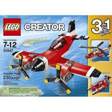 lego creator propeller plane 31047 walmart com