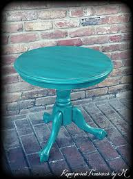 teal accent table sold sold vintage accent table turquoise table shabby chic