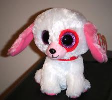 ty beanie boos darlin white dog regular size 6 mwmt