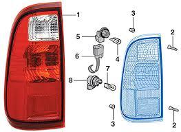 Tail Light Components 2008 15 Ford F250 F350 F450 F550