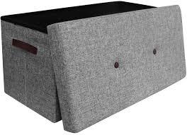 coffre de rangement chambre banc coffre de rangement pliant gris