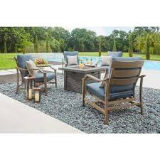 Firepit Patio Pit Sets Outdoor Lounge Furniture The Home Depot