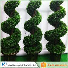 Topiary Dog Artificial Ornamental Plants Big Trees Boxwood Topiary Spiral Tree