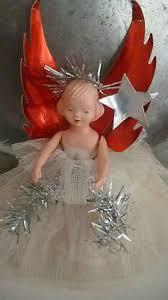 vintage christmas tree fairy angel ballerina doll holidays