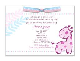 baby shower invite wording baby shower invitations card simple design baby shower