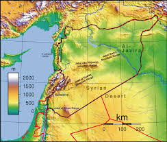 Topographical Map Of South America by Topographic Map Of Syria Nations Online Project