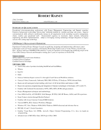 summary of qualifications resume sample related free resume