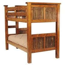 Mountain Woods Furniture Rustic Wood Twin Over Twin Bunk Bed - Rustic wood bunk beds