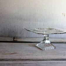 Crystal Pedestal Cake Stand Shop Vintage Crystal Cake Stand On Wanelo