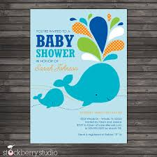 whale baby shower invitations blue whale baby shower diy printable by stockberrystudio on etsy