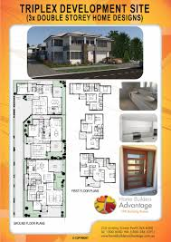 duplex triplex and development floor plans album by home builders