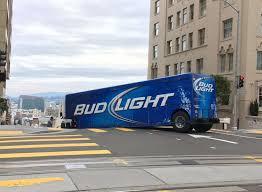 bud light truck driving jobs bud light semi driver unfamiliar with sf s steep hills gets stuck