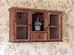 Shabby Chic Wall Cabinets by Shabby French Country Chic Wooden Glazed Display Wall Cabinet Unit