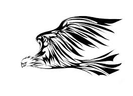 eagle tribal tattoo design clip art library