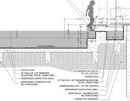 concrete swimming pool construction details pool detail drawing