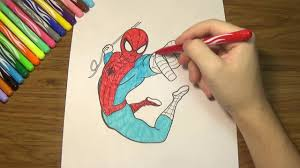 spiderman coloring pages how to color spiderman youtube