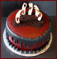 Fondant Halloween Cakes by Amanda U0027s Custom Cakes Creepy Hand Halloween Cake