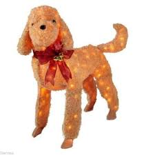 lighted dog christmas lawn ornament pretentious dog outdoor christmas decorations ingenious new 42 in