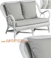 canape en rotin canapé rotin 2 pl blanc nantucket coussins 976 2wh