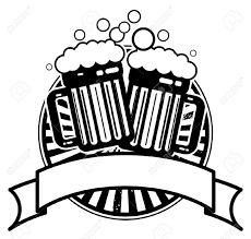 beer cartoon black and white beer mugs clipart clipground
