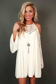 catch my drift cold shoulder dress in white shoulder dress cold