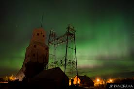 Northern Lights Michigan Forecast A Blanket Of Northern Lights Behind The Quincy Mine No 2 Shaft