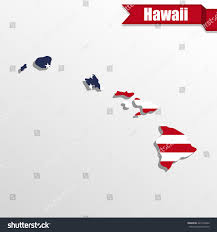 Hawaii State Map by Hawaii State Map Us Flag Inside Stock Vector 421476202 Shutterstock