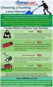 choosing a pushing lawn mower visual ly