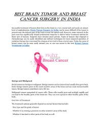 best brain tumor and breast cancer surgery in india by