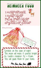 free printable reindeer activities magic reindeer food and free printable label alwaystheholidays com