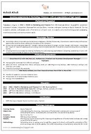 Resume For Mba Finance Fresher Resume Format For Fresher Mba Finance