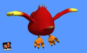 3d asset red cartoon bird cgtrader