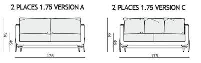 hauteur assise canapé canapé sits