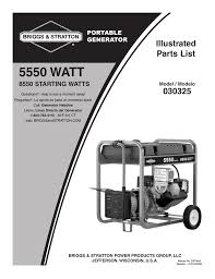 briggs u0026 stratton 030325 user manual 5 pages