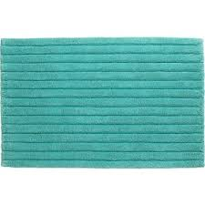 Aqua Bathroom Rugs Cb2 Vertical Stripe Aqua Bath Rug Polyvore