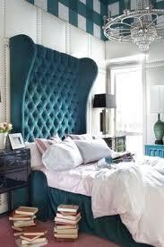 upholstered walls bold color oversized velvet tufted wingback