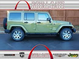 2013 commando green jeep wrangler unlimited sahara 4x4 76071898